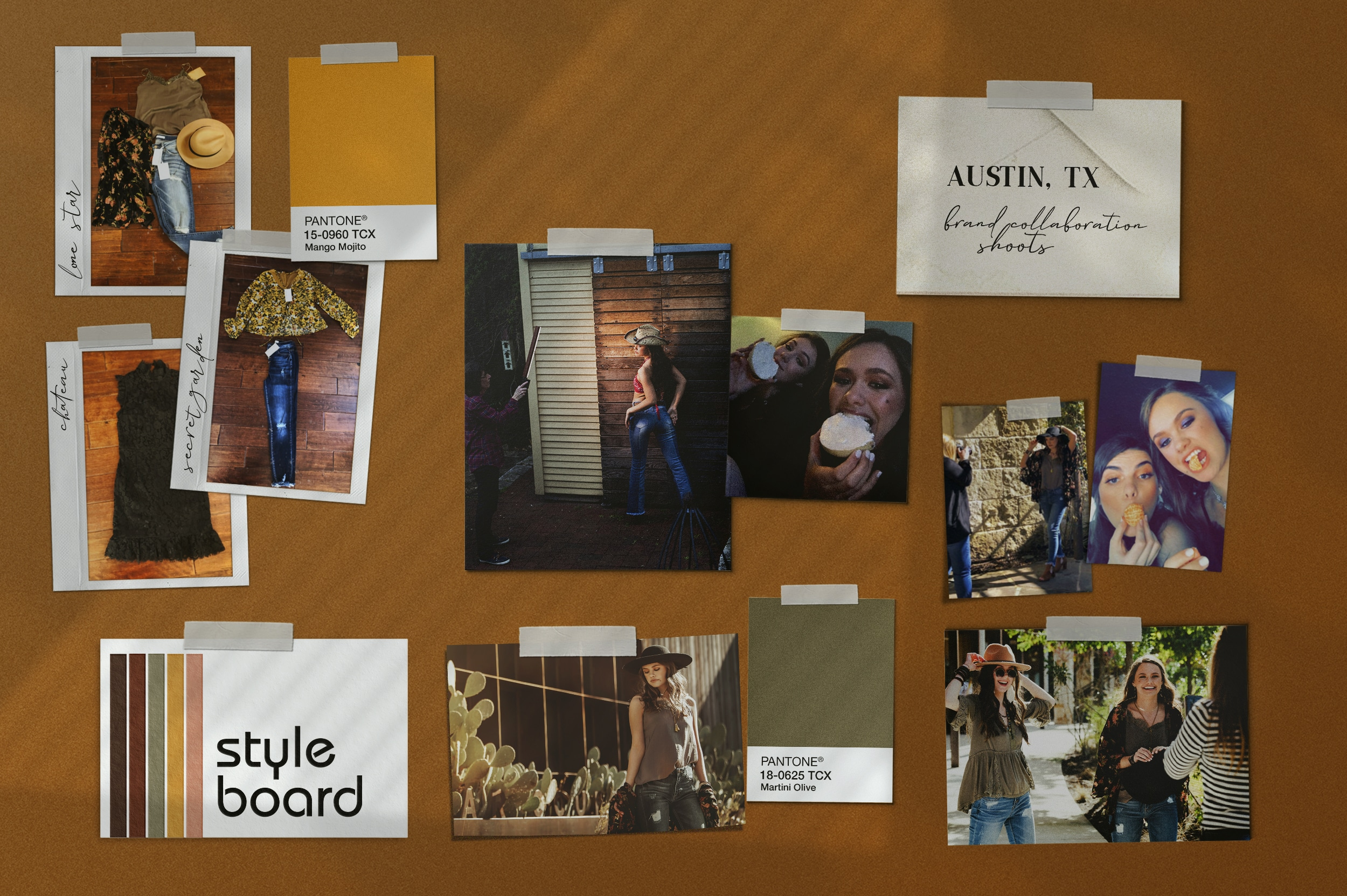 Austin, Texas, Influencer Style Board. Kayla Jessie for UNDISCOVERED.